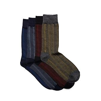 Jack & Jones Faded Mens Cotton Socks 4 Pack Black/dark Grey