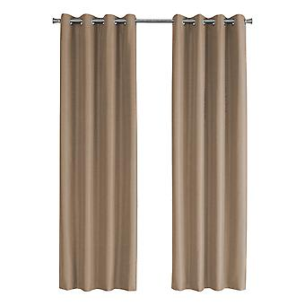 """52"""" x 95"""" Brown, Solid Blackout - Curtain Panel 2pcs"""