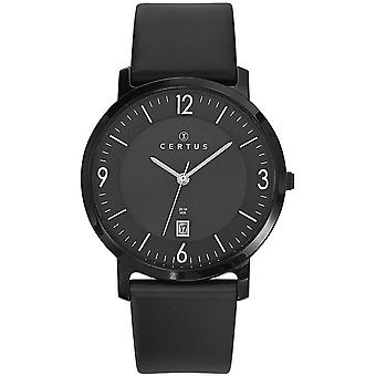 Certus 610959 watch - leather round dial man