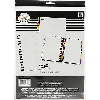 Happy Planner Big Full Sheet Fill Paper 40/Pkg-Notes Multi Stripe, Student