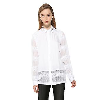 Desigual Frauen's Spitze Panel Francia Shirt