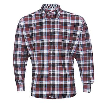 בן הירוק Mens כותנה חולצה שרוול ארוך מזדמנים