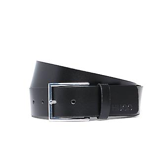 HUGO Giaspo Black Leather Belt