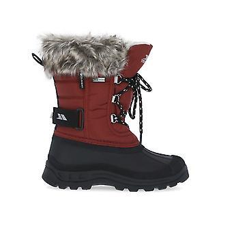 Trespass Unisex Kids Lanche Faux Fur Snow Boots