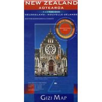 New Zealand Aotearoa Geographical Map 2018