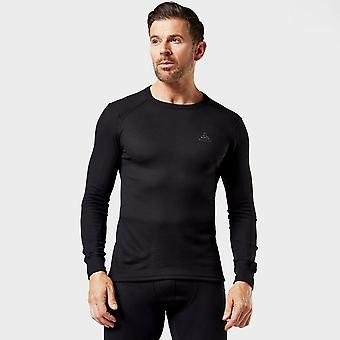 New Odlo Men's Active Warm Long Sleeve Baselayer Crew Black