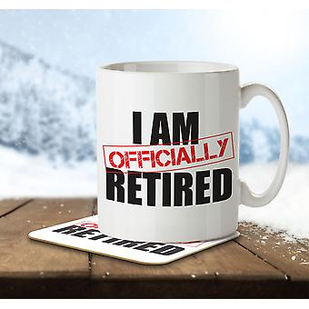 I Am Officially Retired - Mug and Coaster