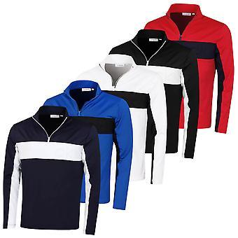 Calvin Klein Mężczyźni wytłaczane Pół Zip Lekki Wicking Golf Sweter