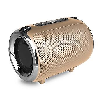 S518 5W Bluetooth Portable speaker-Gold
