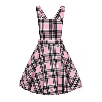 Hell Bunny Islay Pink Pinafore Dress