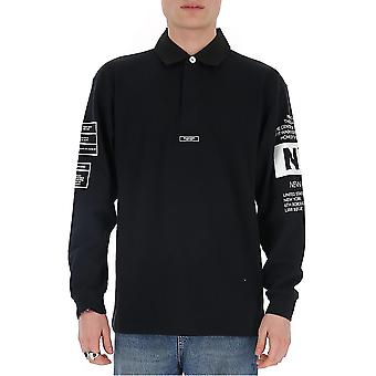 Buscemi Bms20209 Men's Black Cotton Polo Shirt