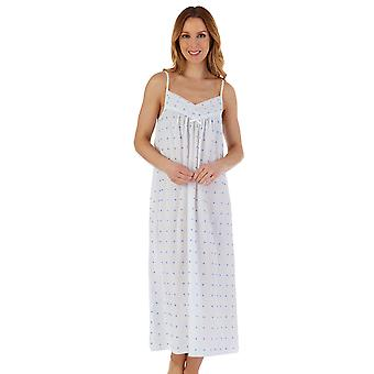 Slenderella ND55230L Women's Spotty Cotton Long Chemise