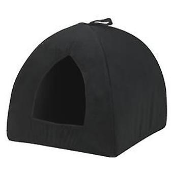 Kruuse Cat Bed Catrine Cat Den Suede Black Large (Cats , Bedding , Igloos)
