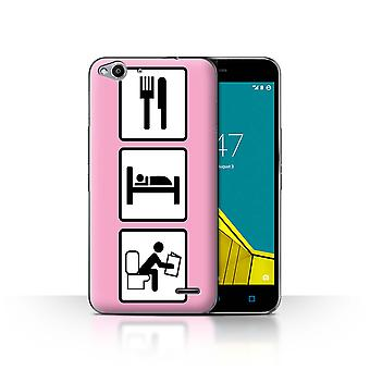 STUFF4 Case/Cover for Vodafone Smart Ultra 6/Poop/Pink/Eat/Sleep