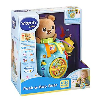 Vtech Baby Peek-a-Boo Bear In Honey Pot Soft Toy With Music, Songs and Fun