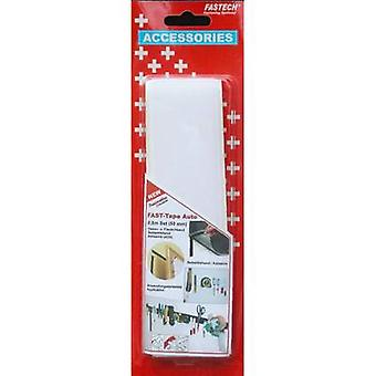 FASTECH® 919-0000C Cinta de gancho y bucle stick-on (adhesivo termofusible) Gancho y almohadilla de bucle (L x W) 500 mm x 50 mm Blanco 1 Par