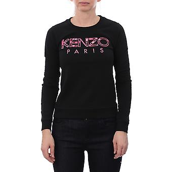 Kenzo F962sw70796299 Women's Black Cotton Sweater