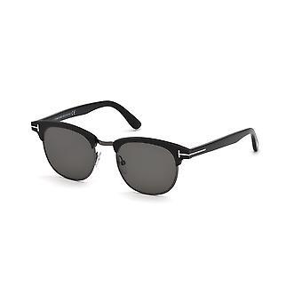 توم فورد لوران-02 TF623 02D ماتي الأسود / بولاريسد نظارات الدخان