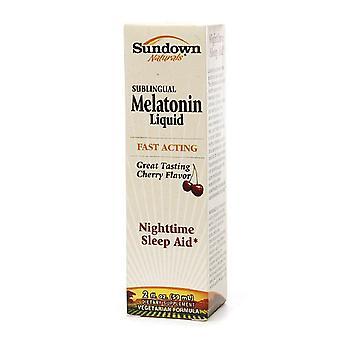 Amurg Naturals sublinguale lichid melatonina, cireasa, 2 oz