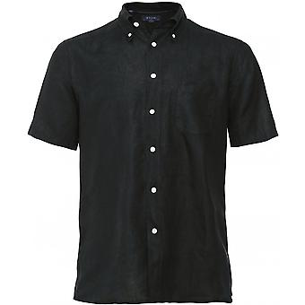 Eton Slim Fit Leinen Kurzarm Shirt