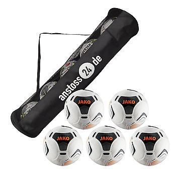 5 x JAKO Game Ball Galaxy 2.0 incl. ball hose