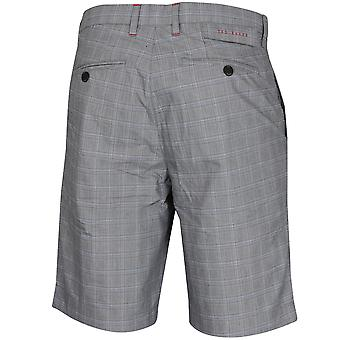 Ted Baker Mens 2020 Waltr Microfibre Checkered Stretch Pantaloncini da golf