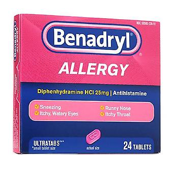 Benadryl Allergie Relief, Ultratab Tabletten, 24 ea