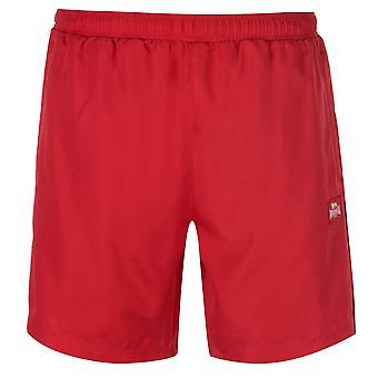 Lonsdale Mens 2 striscia tessuta Shorts pantaloni pantaloni pantaloni Zip leggero Mesh
