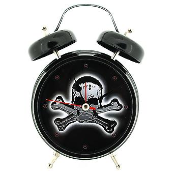 GTP Boys Skull & Crossbones Flashing LED Lights Voice Alarm Clock IMP122