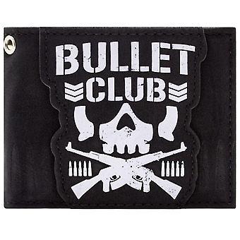 Bullet Club Japanese Wrestling Group Skull Logo ID & Card Bi-Fold Wallet