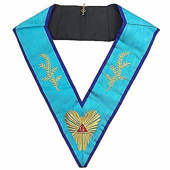Masonic memphis verdenkt aanbiddelijke meester kraag machine borduurwerk