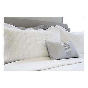 Ardor Flinders White Washed Cotton Coverlet Set