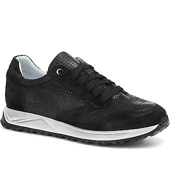 Jones Bootmaker Mens Idris Lace-Up Leather Trainer