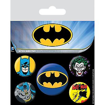 Batman Pin Button Badges Set