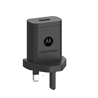 Oficial Motorola TurboPower SC-53 UK 3 Pin Mains Charger Travel Adapter - Preto