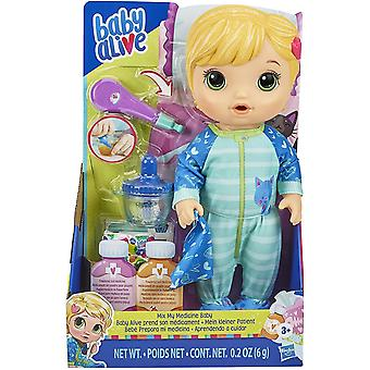 Baby Alive Mix My Medicine Baby Doll, Kitty-Cat Pyjamas