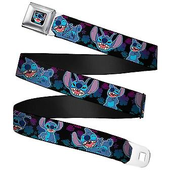 Disney Lilo & Stitch 'Stitch Expressions' Seatbelt Buckle Web Belt