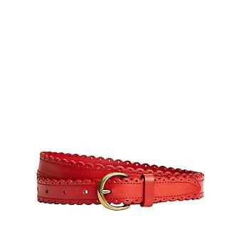 Brooks Brothers Women's Scalloped Belt Leather