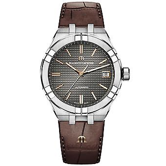 Maurice Lacroix Aikon Automatic 39mm Anthracite Grey Dial Brown Leather Strap Men's Watch AI6007-SS001-331-1