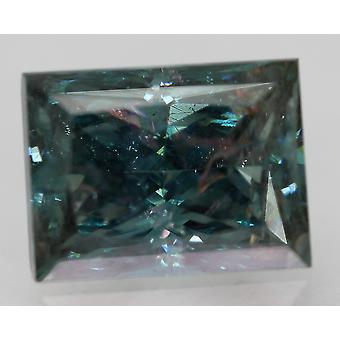 Cert 3,20 karaatin elävä sininen VS2 prinsessa parannettu luonnollinen timantti 9.4x7.03mm 2VG