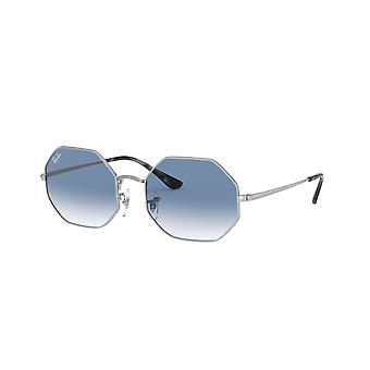Ray-Ban Octagon RB1972 9149/3F Silver/Clear Gradient Blue Sunglasses