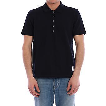 Thom Browne Mjp042a00050415 Heren's Blauw Katoen polo shirt