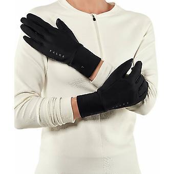 Falke harjattu kosketusnäyttö käsineet - musta