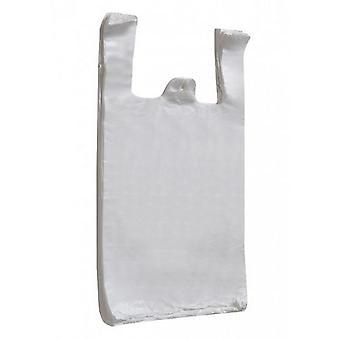 HDPE Vest Plastic Carrier Bags (Pack Of 100)