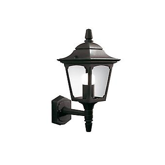 Chapel Wall Lamp, Width 17 Cm, Black Aluminum And Glass