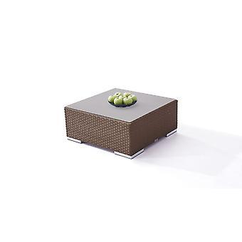 Polyrattan Cube table 75 cm - brun