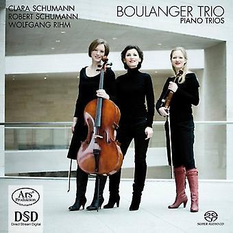 Boulanger Trio - Clara Schumann, Robert Schumann, Wolfgang Rihm: Piano Trios [SACD] USA import