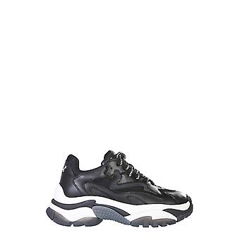 Ash Addict04 Kvinnor' s svart läder sneakers