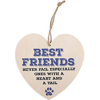 Something Different Best Friends Never Fail Hanging Heart Sign