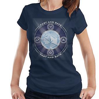 O labirinto de cristal brilhando núcleo mulheres & apos;s T-Shirt